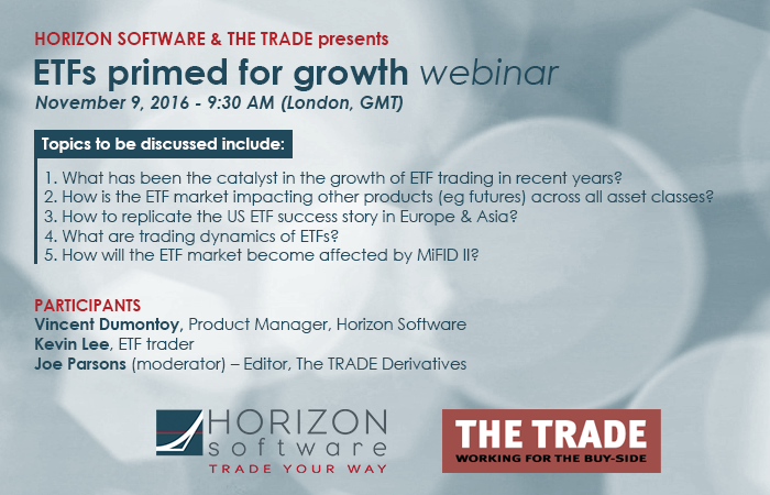 Horirzon Software and The Trade webinar